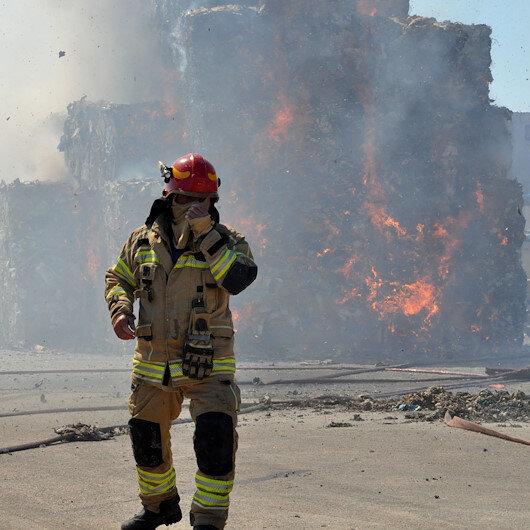 Bursada karton fabrikası alev alev yandı