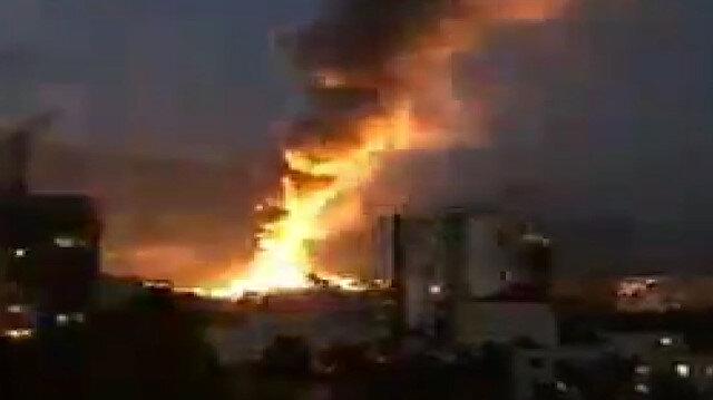 Tahran'da sağlık kliniğinde şiddetli patlama
