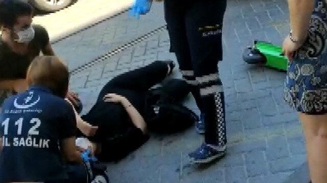Kadıköy'de 'martı'dan düşen kadın yaralandı