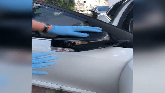 Adıyaman'da dikiz ayna kapaklarına eroin yerleştiren iki kişi yakalandı
