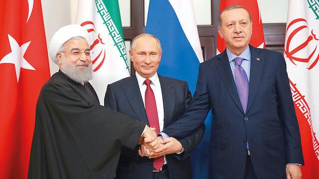 Tele Astana Zirvesi: Cumhurbaşkanı Erdoğan bugün Ruhani ve Putin ile görüşecek