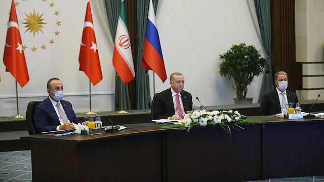 Kritik zirve başladı: Erdoğan, Putin ve Ruhani Suriye'yi görüşüyor