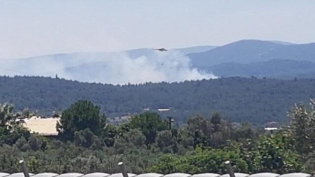 İzmir Urla'da ormanlık alanda yangın çıktı