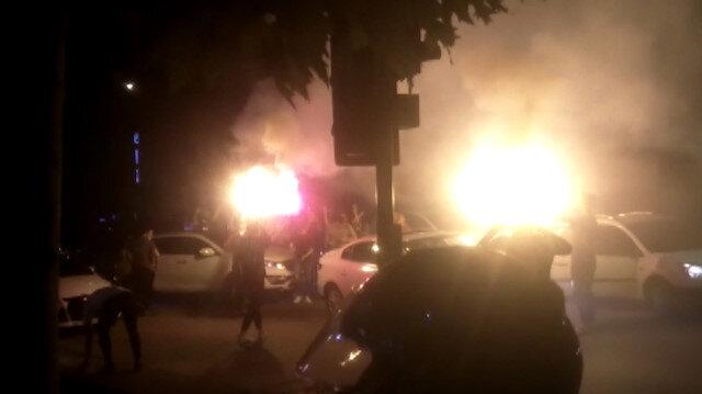 Bursa'da asker uğurlamasında caddeyi trafiğe kapatan grup tedbirleri hiçe saydı