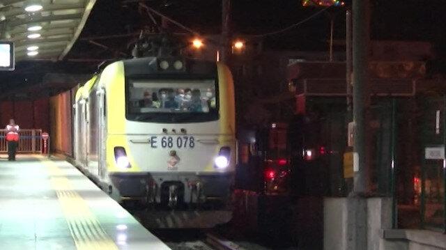 100'üncü yük treni Marmaray'dan, Avrupa'ya geçiş yaptı