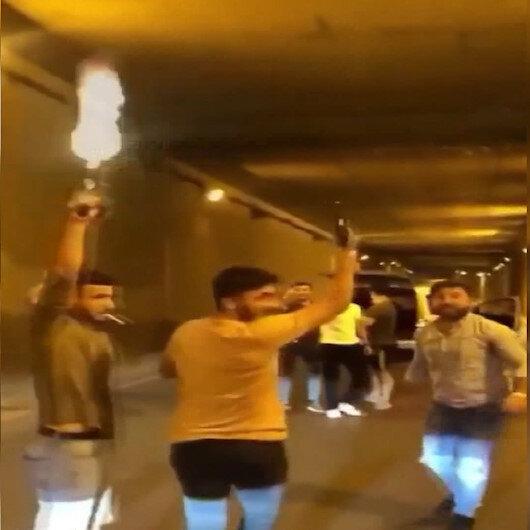 Asker eğlenceleri koronavirüs dinlemiyor: Alt geçidi trafiğe kapatıp havaya ateş açtılar