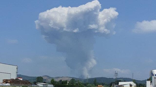 Sakarya'da havai fişek fabrikasında meydana gelen patlamadan ilk görüntüler