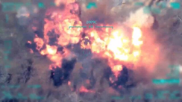 MSB F-16'ların terör yuvalarını imha ettiği görüntüleri paylaştı