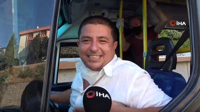 Tıka basa minibüsün şoförü ceza yedi, sözleri şaşkına çevirdi: Allah yemeyenlere de yemeyi nasip etsin