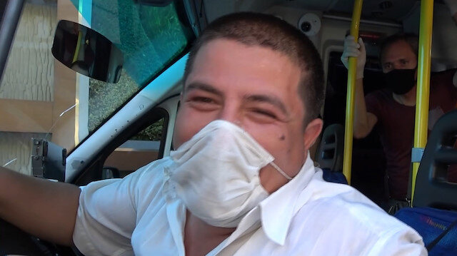 Ceza kesilen minibüs şoförü: Cezayı yedim afiyet olsun. Allah yemeyenlere de yemeyi nasip etsin