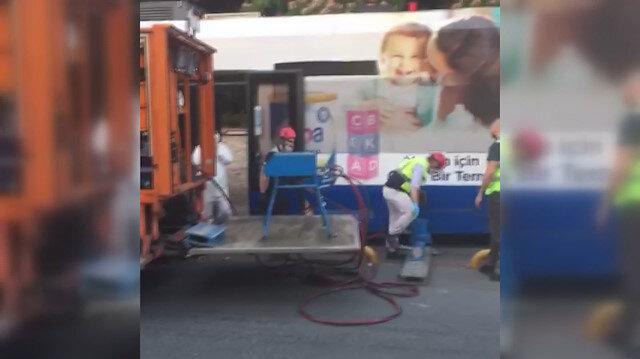İstanbul'da tramvay arızası nedeniyle seferlerde aksama yaşanıyor