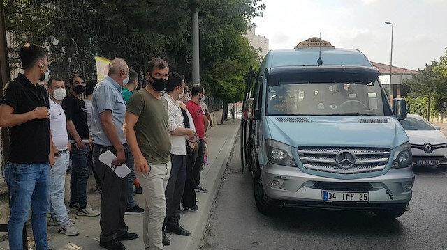 Esenyurt'ta minibüsten 12 yerine 35 yolcu çıktı