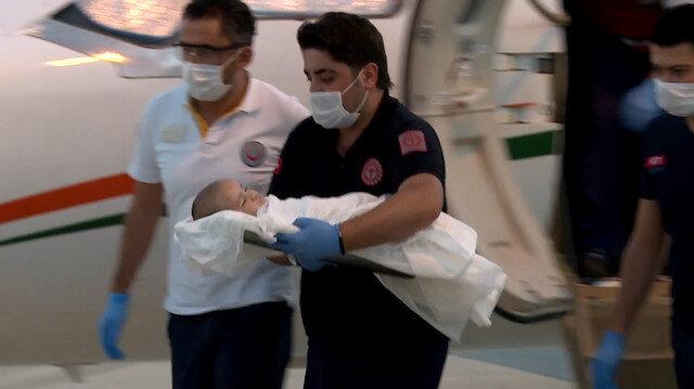 Kalp damarları ters olan bebek Fahrettin Koca'nın talimatıyla Ankara'ya getirildi