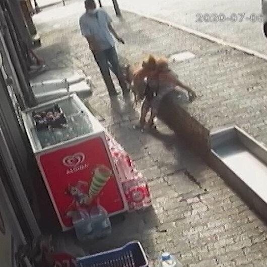 İstanbul'un göbeğinde bir kadın silahlı saldırıya uğradı: Dehşet anları kamerada