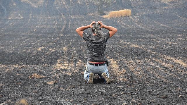 Gelibolu'dan kahreden görüntüler: Böyle dağınık yangın hiç görmedik
