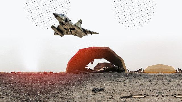 TSKnın konuşlanacağı Vatiyya Üssünü vuran uçakların bıraktığı izler