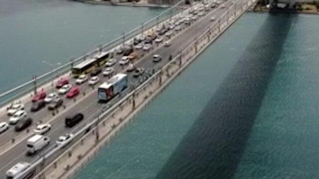 Köprüde 15 Temmuz ruhuyla pedal çevirdiler