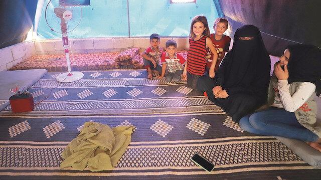 Azez yakınlarındaki bir çadır kampında yaşayan Suriye'li Ebu Safa: Yardımlar gelmezse açlıktan ölürüz