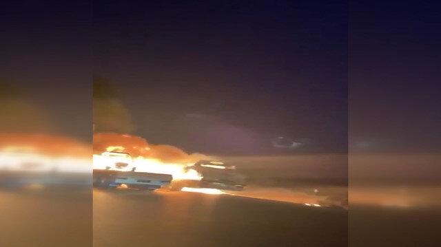 Irak'ta ABD ordusuna ait araçlar ateşe verildi