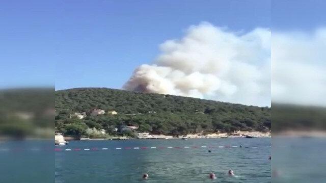 Heybeliada son dakika: Yangından yeni görüntüler