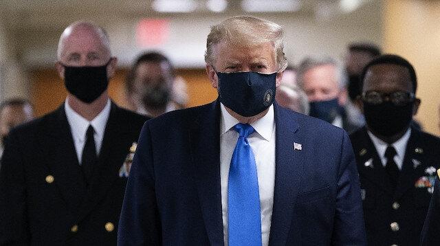 ABD Başkanı Trump ilk kez maskeli görüntülendi: Maske takmanın yeri ve zamanı var