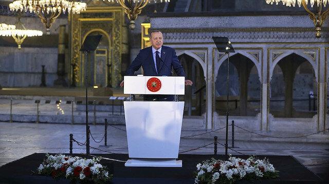 Cumhurbaşkanı Erdoğan'dan 'Ayasofya' değerlendirmesi