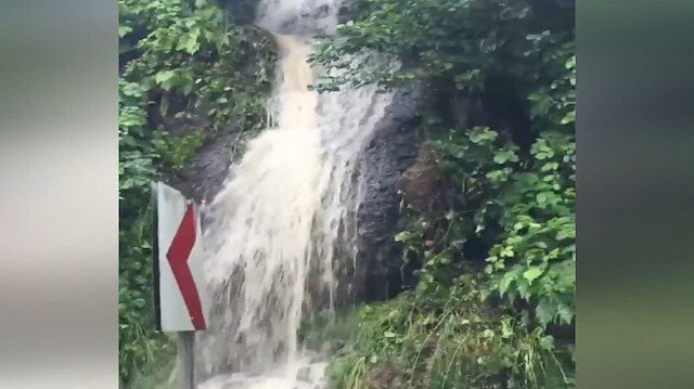 Giresun'da etkili olan yağış heyelanlara neden oldu