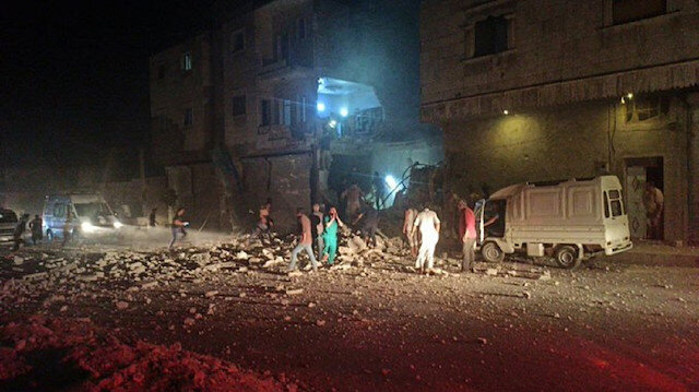 Rus savaş uçakları El Bab'ı bombaladı: Bölgede büyük hasar var