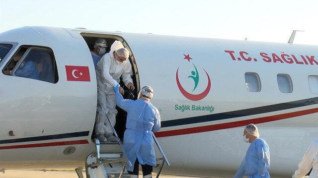 Kırgızistan'da koronavirüse yakalanan 4 Türk İstanbul'a getirildi