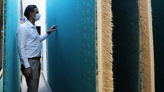 Ayasofya Camii'nin halılarının üretildiği fabrikadan ilk görüntüler