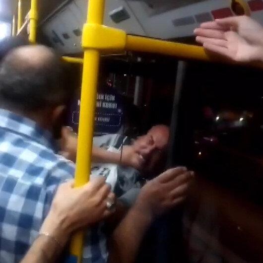 Ankarada otobüste yer vermeme kavgası: İki yolcu birbirine girdi