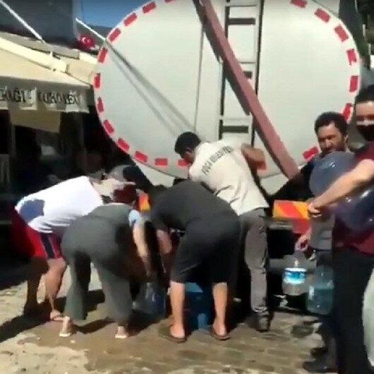 İzmir Foçada evlerine denizden su taşıyan vatandaş isyan etti: Hiç kimse tepki vermiyor, ben hayret ettim