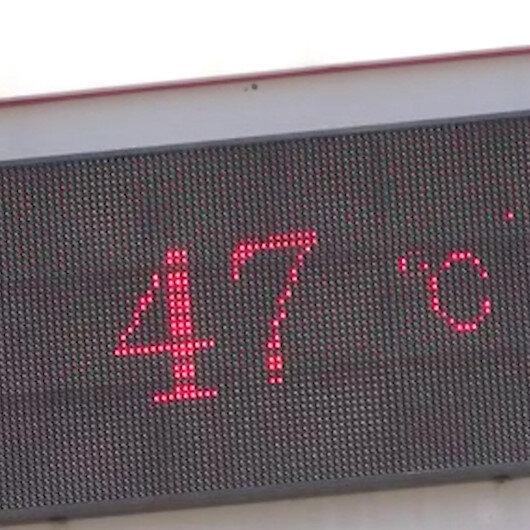 Diyarbakırda termometreler 47 dereceyi gösterdi, hayat durma noktasına geldi