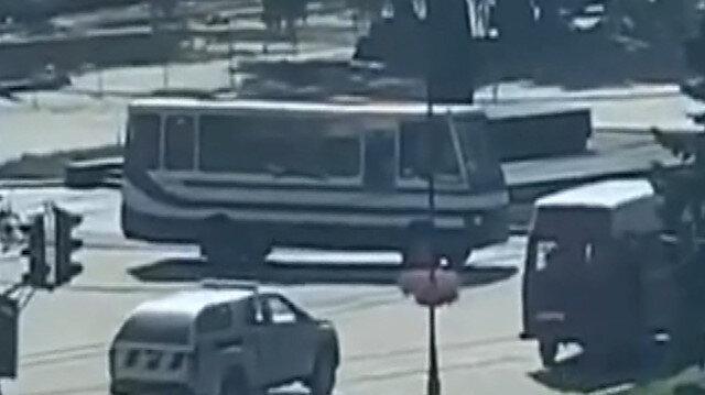 Ukrayna'da 20 yolcuyu rehin alan saldırgan polis dronuna ateş açtı