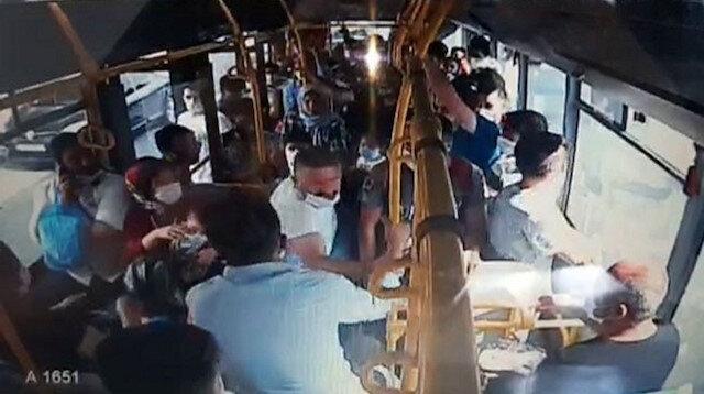 Halk otobüsüne parayla binemedi, şoföre sinirlenip camları kırdı