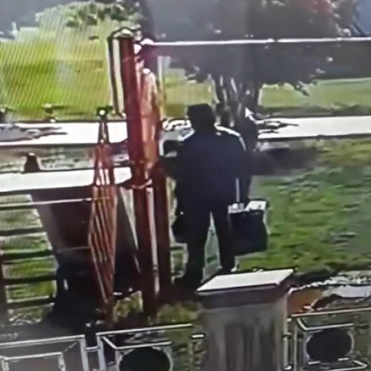 Kerkük'te Türkmen bürosu yakınlarına bomba yerleştiren saldırgan kameraya yansıdı