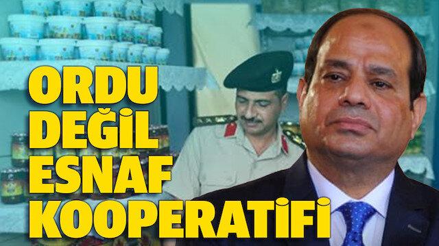 BAE'nin Mısır temsilcisi Sisi: Ordu değil Esnaf Kooperatifi