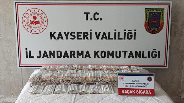 Jandarma'dan makaron operasyonu: Bin 720 adet ele geçirildi