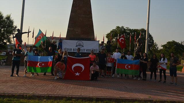 Bisiklet kulübünden Azerbaycan'a destek
