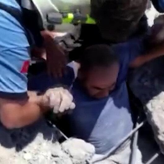 Gaziantep'te göçük altında kalan inşaat işçileri böyle kurtarıldı