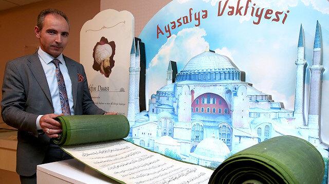 İşte Fatih Sultan Mehmet'in 65 metre uzunluğundaki Ayasofya Vakfiyesi
