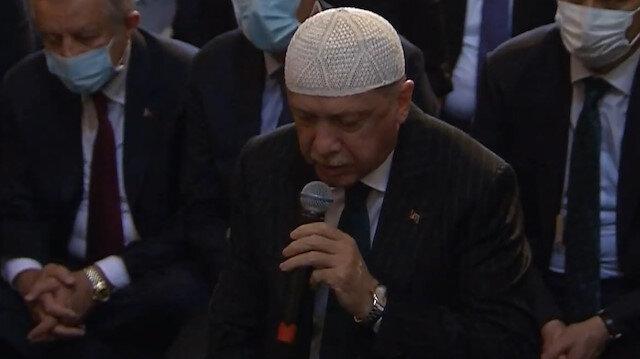 Erdoğan'dan Ayasofya Camii'nde Kur'an tilaveti