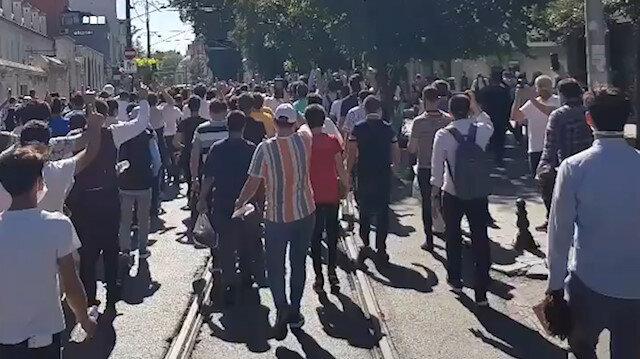 Gençler 'Allahu Ekber Kebira' nidalarıyla Ayasofya yürüyor
