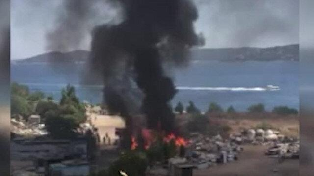 Kınalıada'da yangın