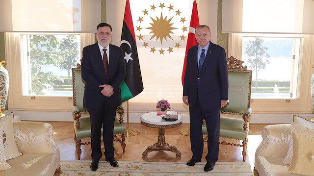 Cumhurbaşkanı Erdoğan, Libya Başbakanı Serrac ile görüştü