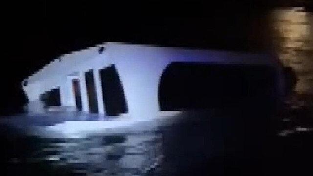 Heybeliada açıklarında deniz taksi alabora oldu: Teknede bulunan 27 kişi kurtarıldı
