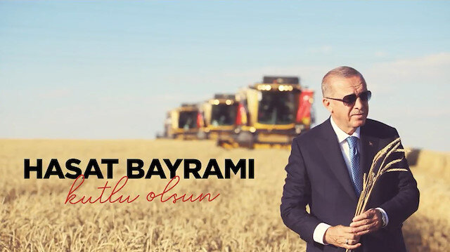 Cumhurbaşkanı Erdoğan üreticilerin Hasat Bayramını kutladı