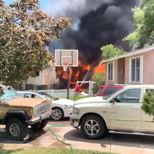 ABDde uçak evin üzerine düştü: 3 ölü 4 yaralı