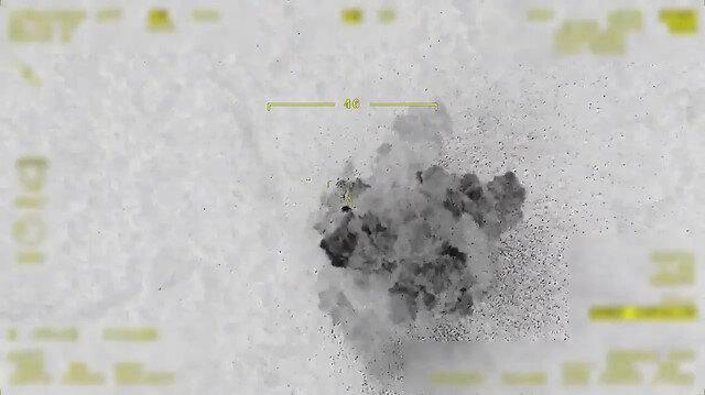 MSB paylaştı: İki PKK'lı teröristin öldürüldüğü hava harekatı SİHA kamerasında