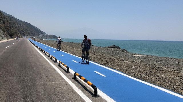 Dünyanın en uzun bisiklet yolu bisikletçilerin gözdesi oldu